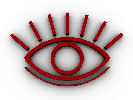 eyelids: The stylised eye on a white background Stock Photo
