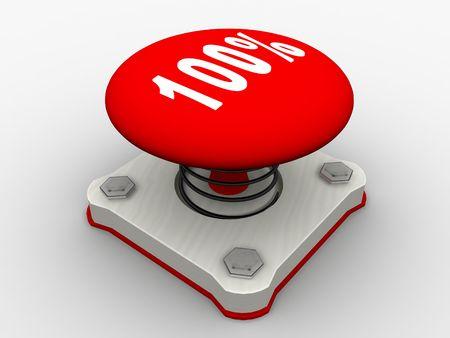 Red start button on a metal platform Stock Photo - 5037395