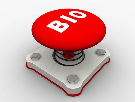 Red start button on a metal platform Stock Photo - 5037377