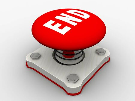 Red start button on a metal platform Stock Photo - 5037388