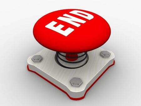 Red start button on a metal platform Stock Photo - 5037388