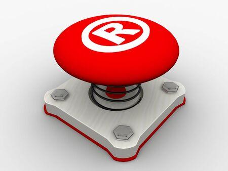 Red start button on a metal platform Stock Photo - 5037408