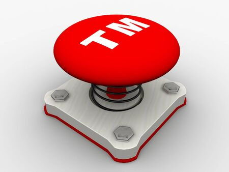 Red start button on a metal platform Stock Photo - 5037386