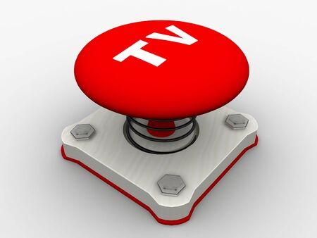 Red start button on a metal platform Stock Photo - 5037357