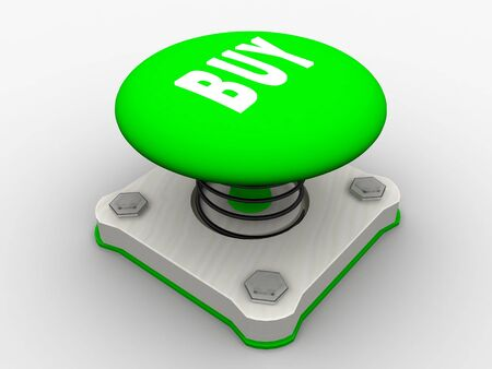 Green start button on a metal platform Stock Photo - 5037361