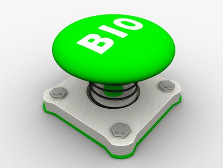 Green start button on a metal platform Stock Photo - 5037374