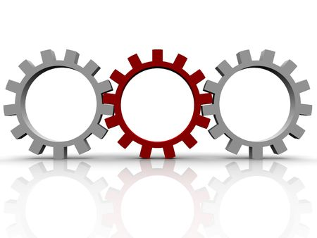 gears which symbolise movement mechanisms and business Stock Photo