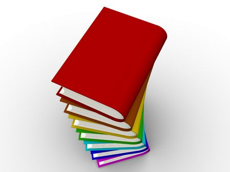 The big book on a white background photo