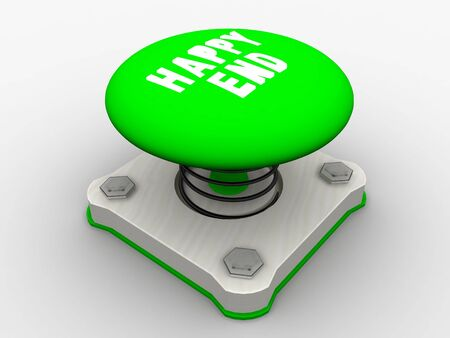 Green start button on a metal platform Stock Photo - 5183089
