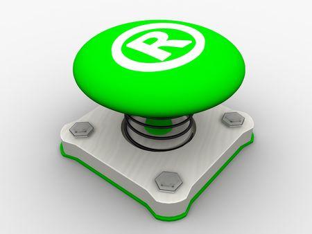 Green start button on a metal platform Stock Photo - 5183087