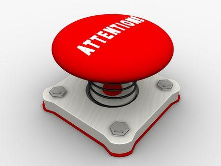 Red start button on a metal platform Stock Photo - 5183090