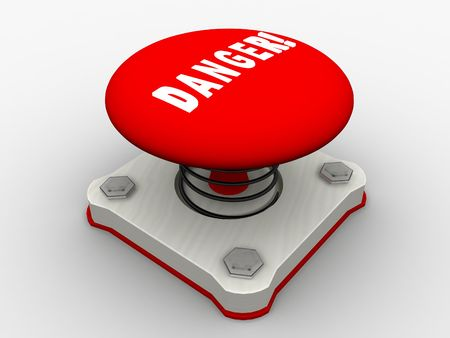 Red start button on a metal platform Stock Photo - 5183095
