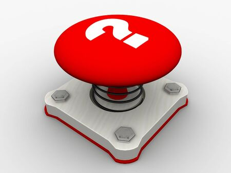 Red start button on a metal platform Stock Photo - 5338611