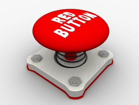Red start button on a metal platform Stock Photo - 5338600