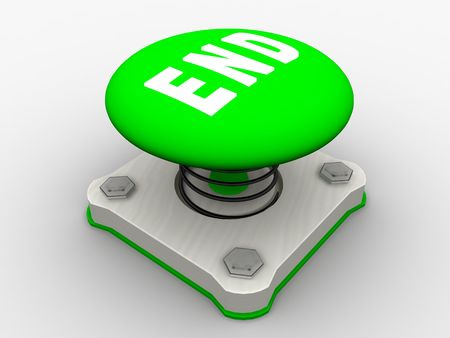 Green start button on a metal platform Stock Photo - 5338623