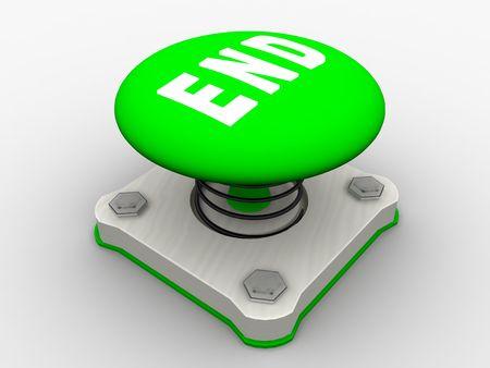 Green start button on a metal platform Stock Photo - 5338623