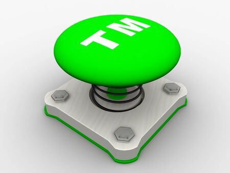 Green start button on a metal platform Stock Photo - 5338615