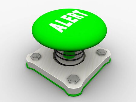 Green start button on a metal platform Stock Photo - 5338622