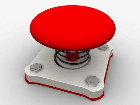Green start button on a metal platform Stock Photo - 5338617
