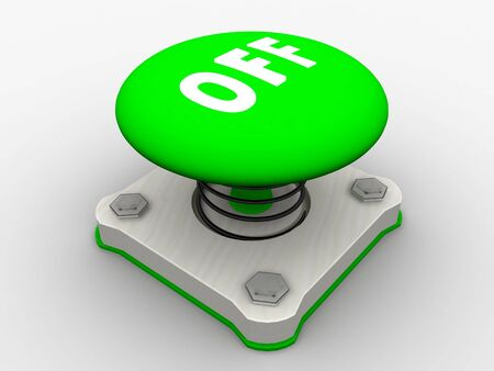 Green start button on a metal platform Stock Photo - 5338612