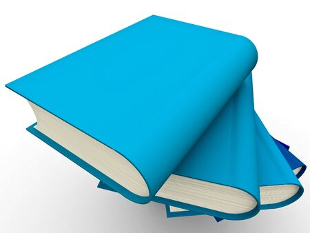 literary: The big book on a white background