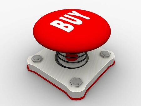 Red start button on a metal platform Stock Photo - 5424057