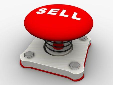 Green start button on a metal platform Stock Photo - 5424070