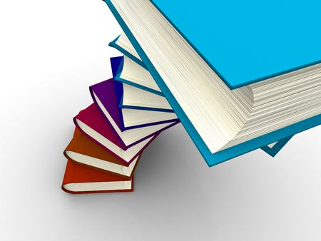 The big book on a white background