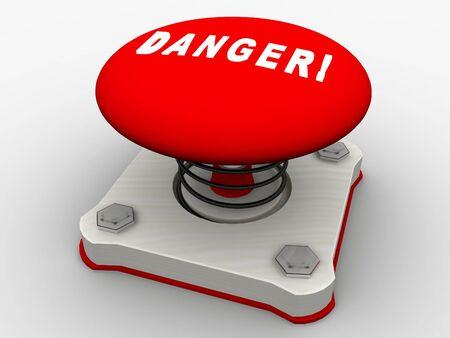 Green start button on a metal platform Stock Photo - 5532358