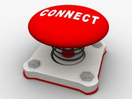 Green start button on a metal platform Stock Photo - 5532353