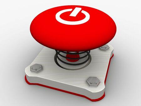 Green start button on a metal platform Stock Photo - 5532363