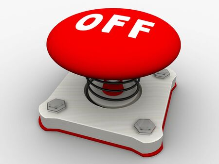 Green start button on a metal platform Stock Photo - 5532338