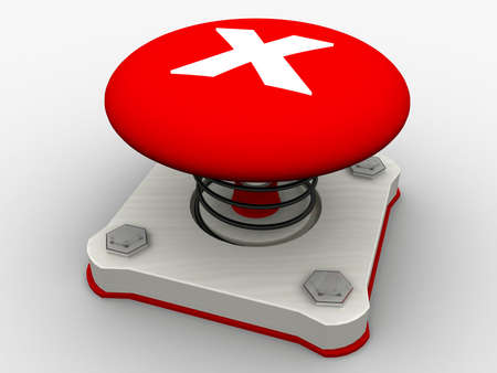 Green start button on a metal platform Stock Photo - 5565653