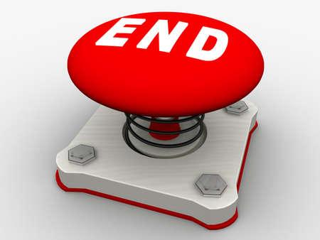 Green start button on a metal platform Stock Photo - 5565658