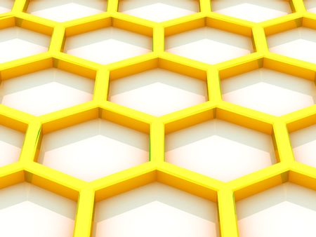 Background from beer honeycombs on a white background Stock Photo