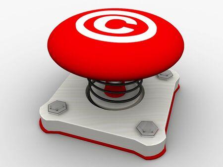 Green start button on a metal platform Stock Photo - 6079870