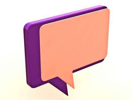 Color chat box on a white background Stock Photo