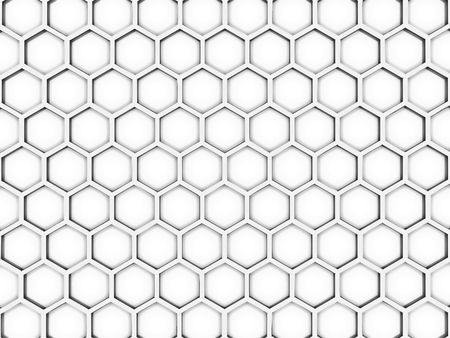 Background from bee honeycombs on a white background Stock Photo - 6079951