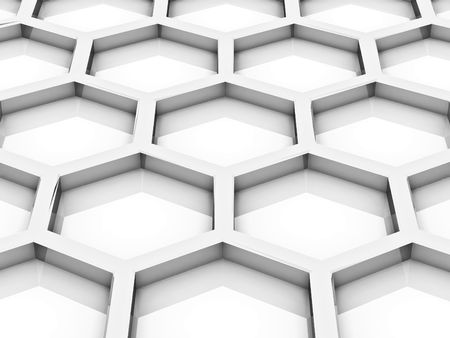 Background from bee honeycombs on a white background