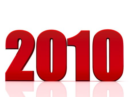 Beautiful numerical designation of new 2010 year Stock Photo - 6079869