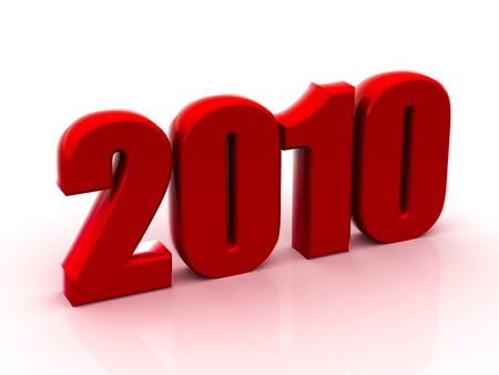Beautiful numerical designation of new 2010 year Stock Photo - 6079903