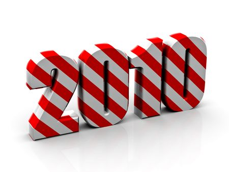 Beautiful numerical designation of new 2010 year Stock Photo - 6079887