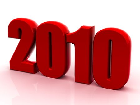 Beautiful numerical designation of new 2010 year Stock Photo - 6079895