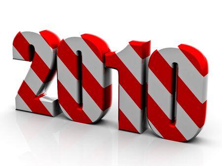 Beautiful numerical designation of new 2010 year