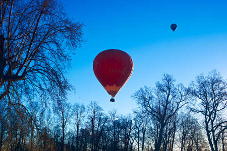 balloon aircraft sky blue flight