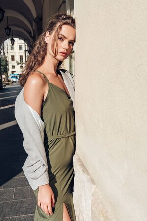 Fashion photo, Street style fashion. Professional model