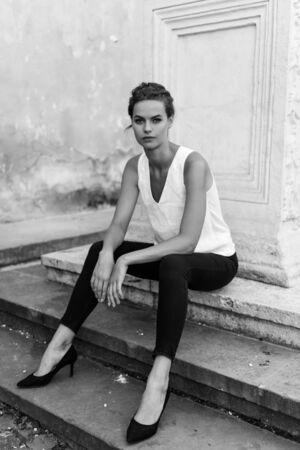 Portrait Of Young Sensual Woman Foto de archivo
