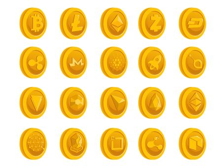 Crptocurrency Gold Coin.