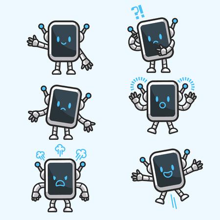 Bot Character Set Illustration