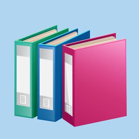 Colorful Folder Binder